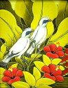 バリアート絵画S縦『森の小鳥達白赤花』【アジアン雑貨 バリ 雑貨 タイ雑貨】10P01Oct16