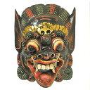 木彫りのお面マスク『バロン』壁掛け L Bタイプ[縦約36cmx横27cm] アジアン 雑貨 バリ 雑貨 タイ 雑貨 アジアン インテリア