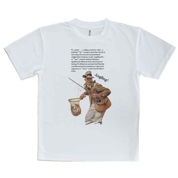 おもしろTシャツフライフィッシング釣り魚ルアーTシャツメンズ半袖ロゴ文字春夏秋インナー安い面白い大き