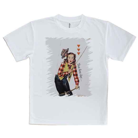 おもしろTシャツフライフィッシング初心者釣り魚ルアーTシャツメンズ半袖ロゴ文字春夏秋インナー安い面白