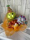 スマイルハットバースデーBOX 送料無料 元気カラー キャンディ型バルーン 可愛い 贈り物 サプライズ