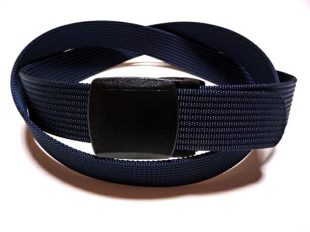 /ネイビー(紺)32ミリナイロン プラスティックバックルベルト 樹脂バックルベルト / 日本製 / フルサイズ対応 / 1本までメール便対応可 / あす楽対応