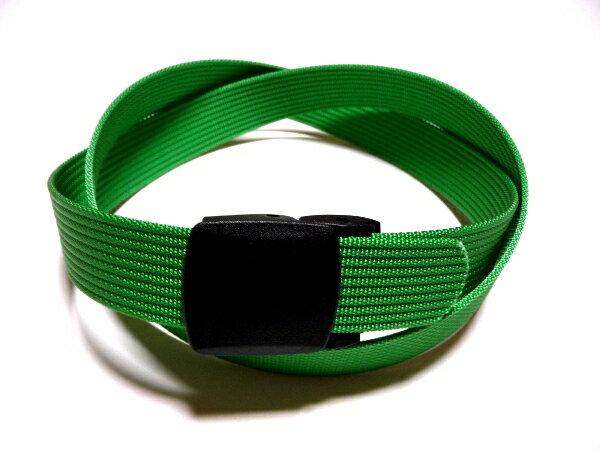 /ライトグリーン32ミリナイロン プラスティックバックルベルト 樹脂バックルベルト / 日本製 / フルサイズ対応 / 1本までメール便対応可 / あす楽対応