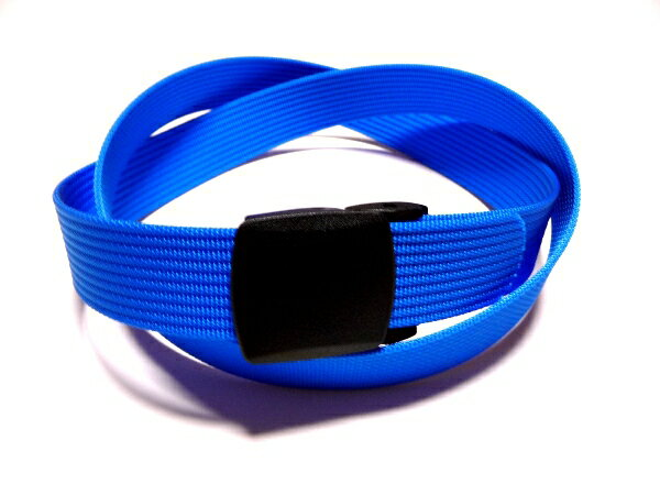 /ライトブルー32ミリナイロン プラスティックバックルベルト 樹脂バックルベルト / 日本製 / フルサイズ対応 / 1本までメール便対応可 / あす楽対応