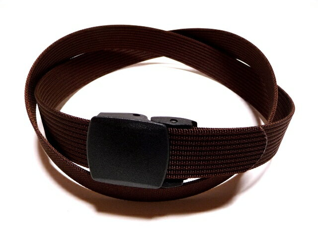 /ブラウン(茶色)32ミリナイロン プラスティックバックルベルト 樹脂バックルベルト / 日本製 / フルサイズ対応 / 1本までメール便対応可 / あす楽対応