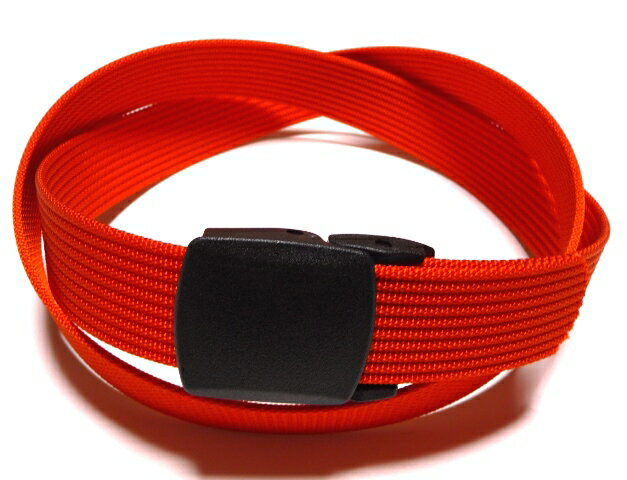 /レスキューオレンジ32ミリナイロン プラスティックバックルベルト 樹脂バックルベルト / 日本製 / フルサイズ対応 / 1本までメール便対応可 / あす楽対応