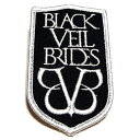 /BLACK VEIL BRIDES ブラック・ベイル・ブライズLOGO Patch オフィシャル バンドワッペン / メール便対応可 / 正規ライセンス品