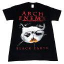 / ARCH ENEMY アーチエネミー Black Earth Original Ring Black T-Shirt オフィシャル バンドTシャツ / 2枚までメール便対応可 / あす楽対応