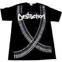 /DESTRUCTION デストラクションBULLET BELTオフィシャル バンドTシャツ【2枚までメール便対応可】【あす楽対応】