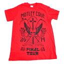 /MOTLEY CRUE モトリークルーFINAL TOUR オフィシャル バンドTシャツ / 2枚までメール便対応可 / あす楽対応