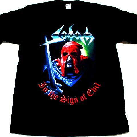 ☆☆☆【Tシャツは2枚までメール便対応可】SODOM ソドムIN THE SIGN OF EVIL オフィシャル バンドTシャツ【あす楽対応】