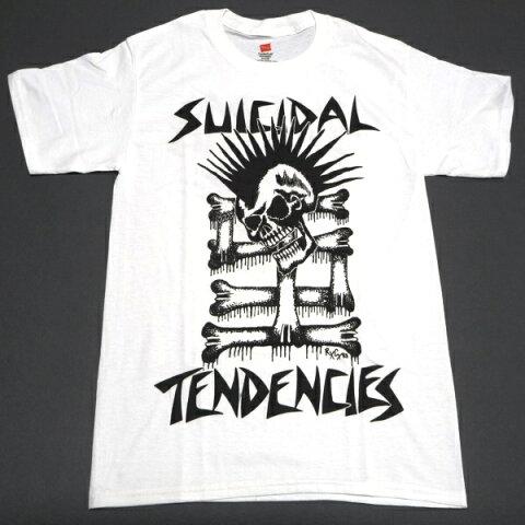 /SUICIDAL TENDENCIES スイサイダルテンデンシーズMOHAWK SKULL オフィシャル バンドTシャツ / 2枚までメール便発送可 / あす楽対応