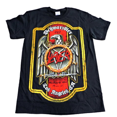 /SLAYER スレイヤーBIER LABEL オフィシャル バンドTシャツ / 2枚までメール便対応可 / あす楽対応