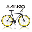 【ANIMATOアニマート】700C PISTO(700Cピスト シングルスピード 自転車 街乗り ストリート おしゃれ スタイリッシュ