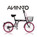 【ANIMATOアニマート】折り畳み自転車 BLACKBIR...
