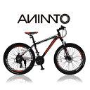 【ANIMATOアニマート】 MTB ATTITUDE XCA200(アティテュード) 26インチ マウンテンバイク ディスクブレーキ 街乗り 通勤 シマノ21段変速 【軽量アルミフレーム】