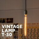 カーボン電球 ヴィンテージランプ E26 【T30】 おしゃれ 照明 電気 ライト エジソン電球 裸電球 40ワット レトロ カフェ ダイニング バー レストラン