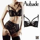 フランス【Aubade】オーバドゥTROUBLANT DESIRトゥブロンデジールハーフカップブラ Eカップ Noirカラー(FI14)ブラジャー