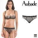 【30%オフ】【Aubade】オーバドゥHC BELLE D' ISPAHAN タンガ Or Noirカラー(HC26)