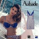 【50%OFF】フランス【Aubade】オーバドゥLa Belle Corsaire ナイティ Aigue Marineカラー(ブルー)