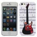 iPhone5 iPhone5s ケース ハードケース プラケース デザインケース 音符 エレクトリックギター ストラトキャスター テレキャスター ハムバッカー HH5