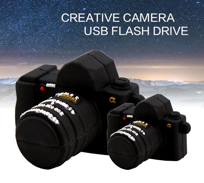 USBメモリー フラッシュメモリー 8GB 2.0 一眼レフカメラ型 おもしろUSB デジカメ インテリア 雑貨 バッグ 三脚 ストラップ