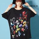 ショッピング衣装 ankoROCK アンコロック ビッグ Tシャツ メンズ カットソー レディース ワンピース ユニセックス 服 ブランド 半袖 大きいサイズ ビッグシルエット 黒 ブラック プリント 妖怪 テディベア クマ