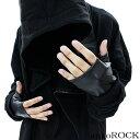 ankoROCK アンコロック レザー 手袋 メンズ レザー 手袋 レディース グローブ 指なし 手袋 黒 フィンガーレスグローブ ブラック