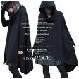 ankoROCK アンコロック マント コート メンズ ロングコート レディース ニットコート 黒 ポンチョ コート ブラック