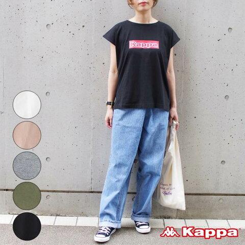 kappa OMINI オミニ レディース ファッション 20代 30代 Tシャツ トップス 半袖 フレンチスリーブ ロゴT ビッグロゴ 別注 アンルル anlulu プチプラ