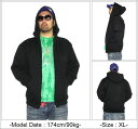 DOUBLE( double) plain fabric zip parka! [M - 3XL] [the domestic strongest quality] DOUBLE PLAIN ZIP HOODY!! Men's big size