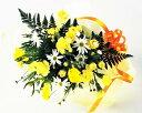 【楽天スーパーSALE期間中2倍】【あす楽16時まで受付】【花束】カーネーションと季節の小花と黄色のブーケ【あす楽対応】