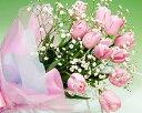 スプリング花 ギフト ピンクのチューリップとカスミソウのブーケ【即日配送】歓迎 送迎