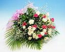 【あす楽16時まで受付】【季節のお花・花束】ピンクと白のバラとかすみ草の花束【あす楽対応】