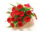 【あす楽16時まで受付】【季節のお花・花束】ガーベラレッドの花束【あす楽対応】