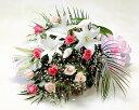 【あす楽16時まで受付】【季節のお花・花束】ピンクのバラとユリの花束【あす楽対応】