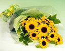 【お買い物マラソン期間中2倍】【季節のお花・花束】【あす楽】 大輪ひまわり20本の花束 お誕生日
