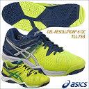 ★16AW asics(アシックス) ゲルレゾリューション 6 OC メンズ テニスシューズ オムニ・クレーコート用 TLL753