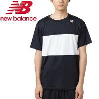【クリアランスセール】【ゆうパケット配送】ニューバランス ショートスリーブカラーブロックゲームTシャツ JMTT9135-BK メンズの画像