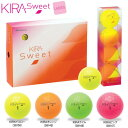 新KIRAシリーズ キャスコ KIRA SWEET キラ スウィート ゴルフボール 1ダース(12P) レディース