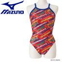 ミズノ 水泳 Disney エクサースーツ ミディアムカット 水着 レディース N2MA979162