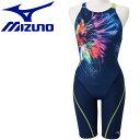 ミズノ 水泳 ストリームアクティバ ハーフスーツ オープン 競技水着 レディース N2MG974683