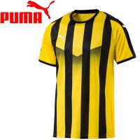 【メール便配送 代引不可】 18SP プーマ LIGA ストライプ ゲームシャツ 703640-07 メンズの画像