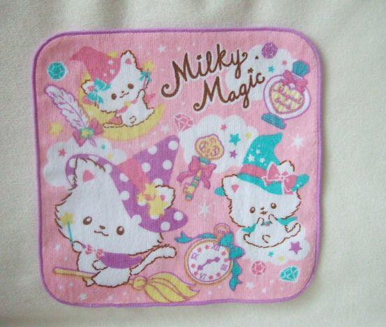 入園入学 ミニタオル milky magic ピンク プチタオル DM便可