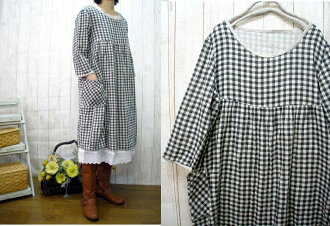 ♪ book sale sale linens &, W moth-Ze check one piece M ~ size 5 L