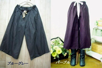 Book sale ♪ sale 50% off!, linen 100% セミキュロット pants M-5 L