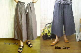 Book sale ♪ sale 50% off!, linen 100% セミキュロット pants M-5 L