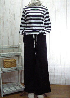 Book sales! 10 days デリバリーハーフリネン, wide pants and chocolate brown, off-white, black, M-5 L