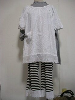 預訂銷售! 感覺舒適、 柔軟的白色棉蕾絲罩衫束腰外衣 2 L-5 L 使在日本