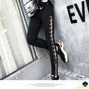 セクシー サイドリップドジーンズ デニムパンツ スキニーパンツ スリムパンツ 黒スキニー パンツ サイドスリットパンツ ボトムス レー..